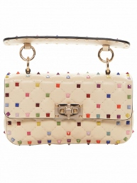valentino multicolor rockstud shoulder bag