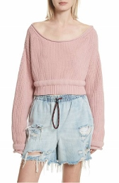 alexander wang boatneck crop sweater