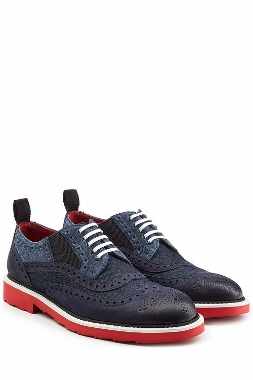 dolce gabbana leather denim brogues