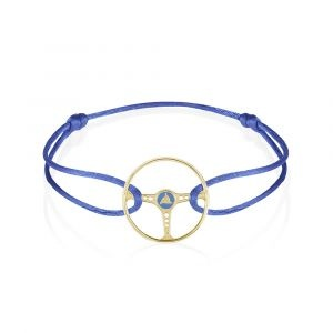 the mechanists cobalt bleu ecosse steering wheel bracelet