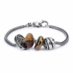 trollbeads silver bracelet with beads for men