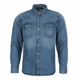 levis western denim shirt