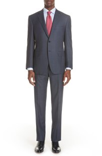 canali classic fit notch lapel suit