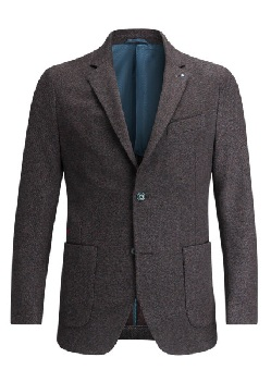 bugatchi birds eye unstructured blazer
