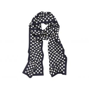 avrone silk polka dot scarf