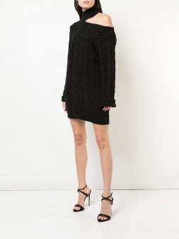 rta asymmetric knitted dress