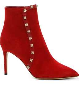 valentino rockstud bootie in red