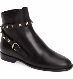 rockstud leather boots